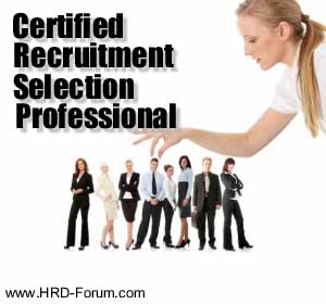 training Recruitment and selection professional training